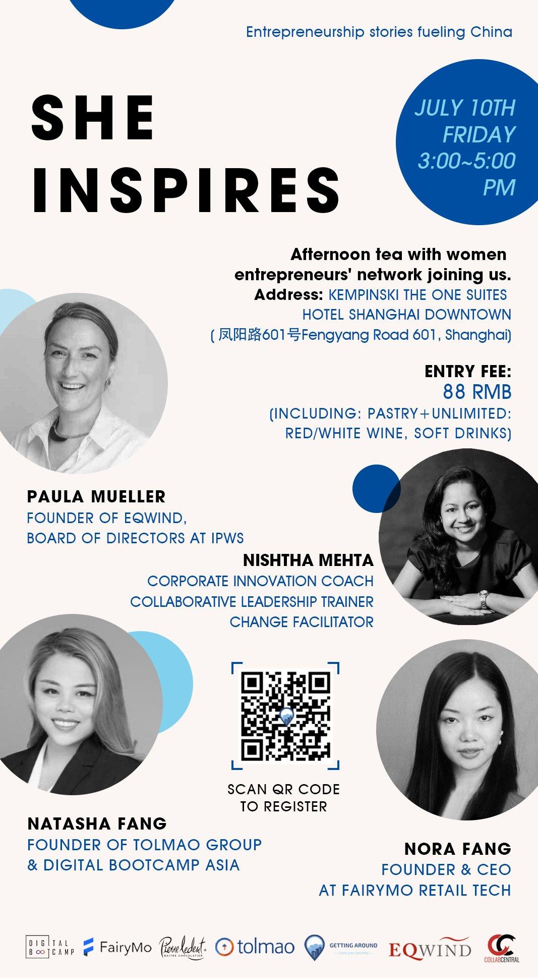 July 10th Offline Event: SHE INSPIRES – Entrepreneurship stories fueling China