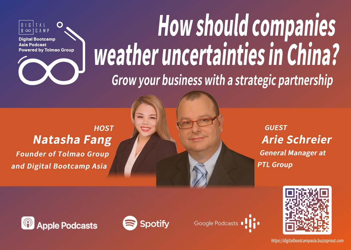 [DBA Podcast #7] How should companies weather uncertainties in China with Arie Schreier, General Manager at PTL Group