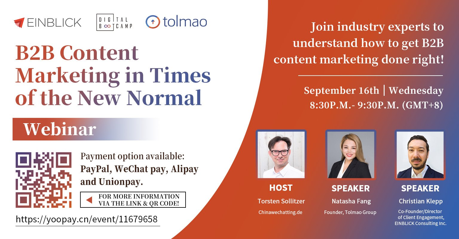 September 16th Webinar: B2B Content Marketing in Times of New Normal